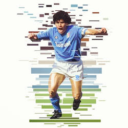 Maradona The God of Naples by akyanyme