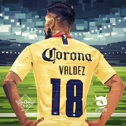 Bruno Valdez Club America vector by akyanyme