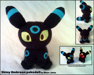 Shiny Umbreon pokedoll by Neon-Juma