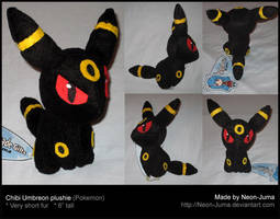 Chibi umbreon plushie by Neon-Juma