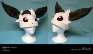 Leafeon hat 2 by Neon-Juma