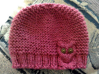Knitted baby hat Owl by Kizzydreaming9