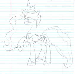 Princess Luna First Attempt by Cortytehfluffeh