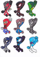 SPIDER SUITS 5 by GabRed-Hat