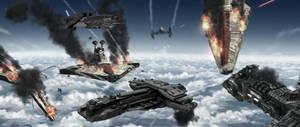 Stargate vs Star Wars by SilentArmageddon