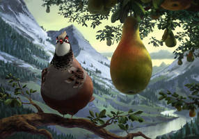 A partridge in a pear tree by Pikoia