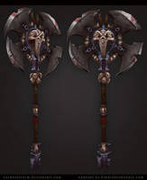 Fantasy Axe by CorderoStorm