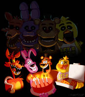 Happy 4th Anniversary, FNAF! by FireFoop