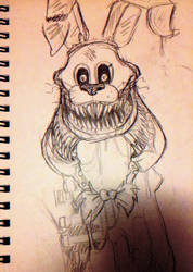 Twisted Bonnie Sketch by FireFoop