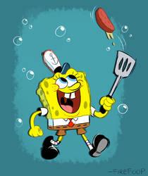Spongebob (In Memory of Stephen Hillenburg) by FireFoop