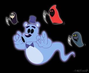 Spooky Ghost Freddo (FNAF World) by FireFoop