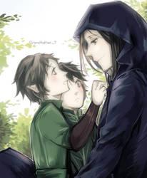 Maglor+ Elladan and Elrohir by vampiry
