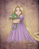 Child Rapunzel by MoonchildinTheSky