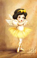 Dancing angel: Snow White by MoonchildinTheSky