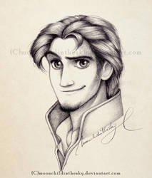 Eugene Portrait BnW by MoonchildinTheSky