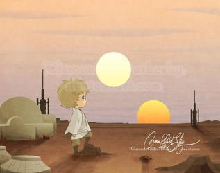 in a far far away galaxy... by MoonchildinTheSky