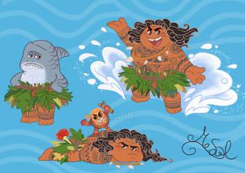 Maui set 2 by MoonchildinTheSky