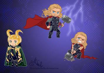 Chibi Avengers Set 4 by MoonchildinTheSky