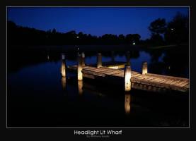 Headlight Lit Wharf by AB-Photography