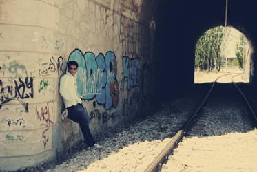 waitting my train by c0tu
