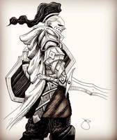 Knight Sketch by JoeyJulian