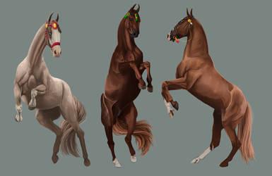 Dancing ponies by Ysval