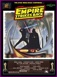Empire Strikes Back Fan Made Movie Poster by screamsinthevoid
