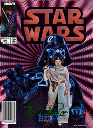 Original Marvel Star Wars issue 90 Homage by screamsinthevoid