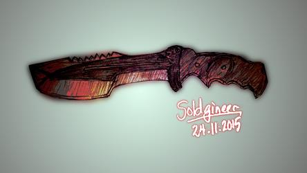 Huntsman Knife by Soldgineer