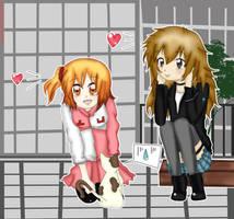 Lucy y Momo - Otsukimi Recital - KD - Wallpaper by aracelli-nyan
