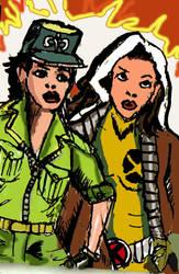 Lady Jaye and Rogue by FuzzChile