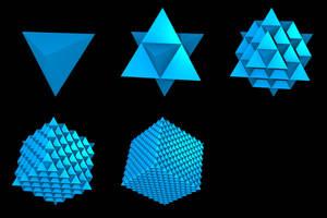 Fractal Tetrahedra - IVM by perrelet