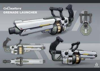 Cross-Fate - Grenade Launcher Concept Art by davislim