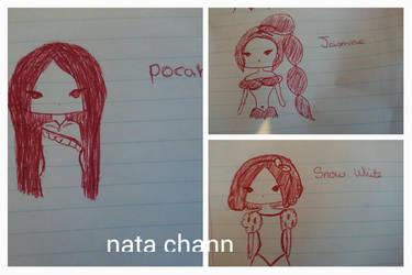 chibi disney princesses by Nata-Chann