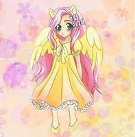 Chibi Fluttershy by HaNa7