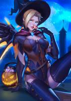Happy Halloween from Mercy by EvaS0L0