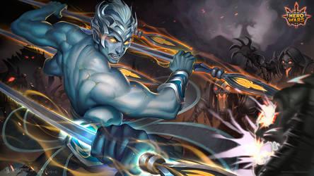 HeroWars - Splash Art - Dante Stone Warrior by EvaS0L0