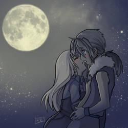 : Harvest Moon Kiss : by KarolinaNoumenon