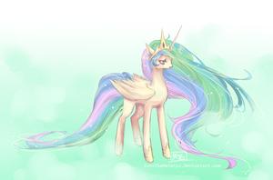 : Princess Celestia : by KarolinaNoumenon
