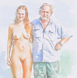 My Buddy Daddy Cool! (Eve and her Father) by garedesad