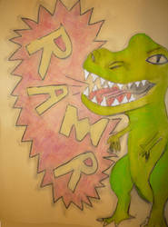 Dinosaur RAWR by MojoCNYartist