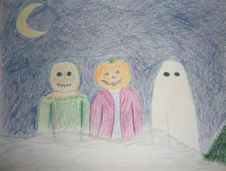 Spooky Kids by MojoCNYartist