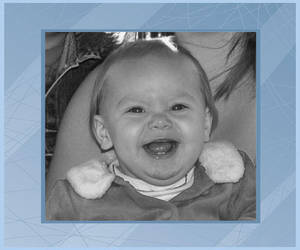 Amber Smiling With Blue Frame 2011 by babytaz62351