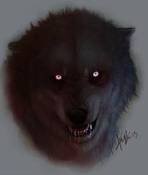 Wolf Portrait: two by RedEyedDemon