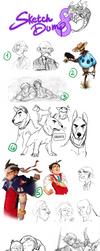 Sketch Dump 8 by Raccoon5