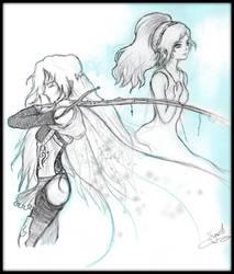 Celes Chere and Lunafreya Nox Fleuret by LunaSyney