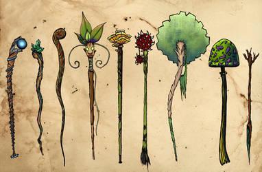 Staff concepts by MacaroniRascals