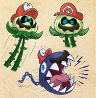 Uproot and Chomp Mario (Super Mario Odyssey) by LorenzoMendoza