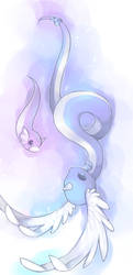 dragonair and dratini by Effier-sxy