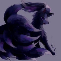 Black Ninetales by Effier-sxy